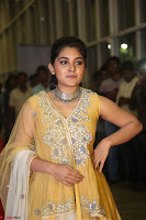 Nivetha Thamos in bright yellow dress at Ninnu Kori pre release function ~  Exclusive (4).JPG