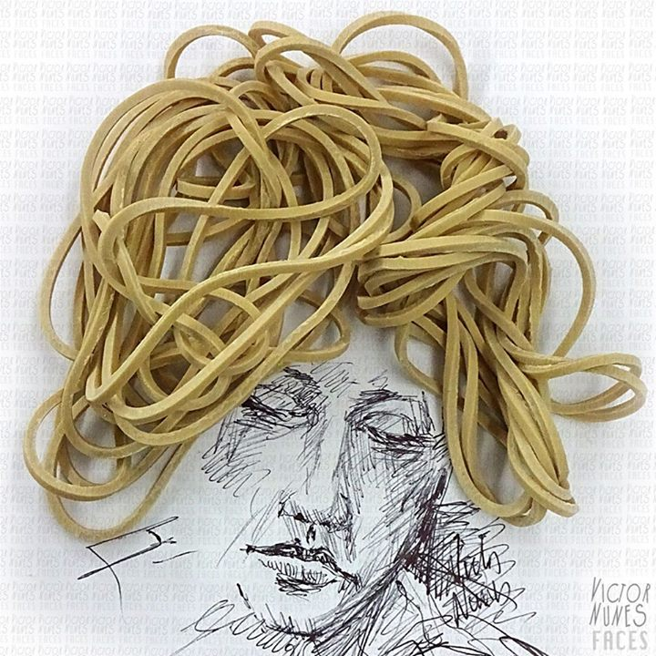 24-Rubber-Band-Hairdo-Victor-Nunes-The-Art-of-Making-and-Drawing-Faces-using-Everything-www-designstack-co