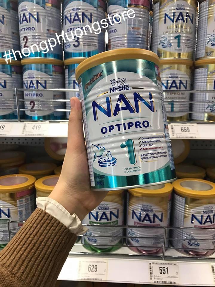 Sữa NAN Nga chính hãng uy tín bán ở đâu ở Hà Nội?