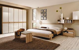 habitación decorada color beige