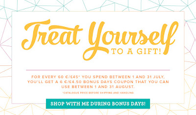 Earn a Bonus Voucher when you shop here in July with Stampin' Up! UK