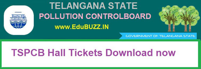 TSPCB Hall Tickets 2017,Telangna Pollution Control Board, Admit Cards,Hall Tickets,
