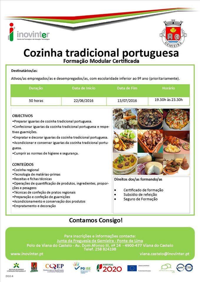 formação de cozinha tradicional portuguesa