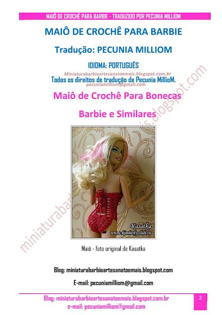 Maiô de Crochê Para Barbie Passo a Passo