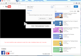 "Fake Youtube - ""You must install the codec extension to watch this video."""