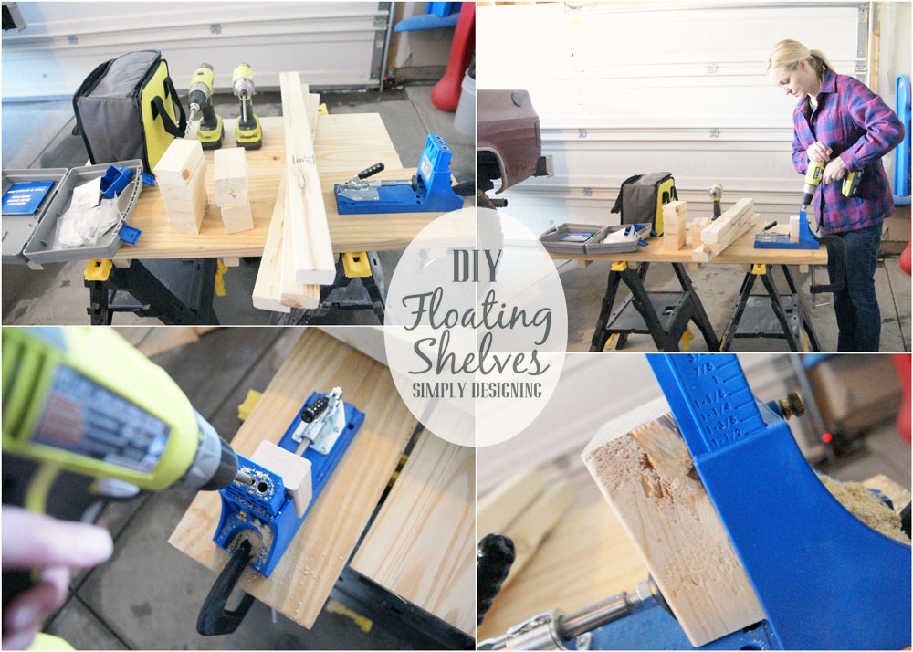 How to Build Floating Shelves | how to build floating shelves - these make a perfect shelf for a bathroom or other small space | #DIY #shelves #buildit #bathroom