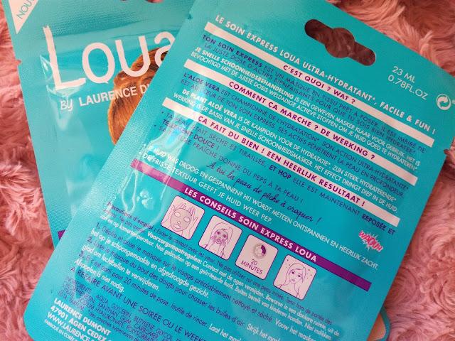 Masque visage Hydratant en tissus Loua