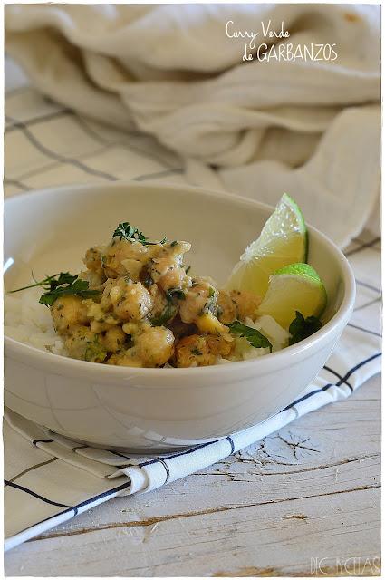Curry verde de garbanzos