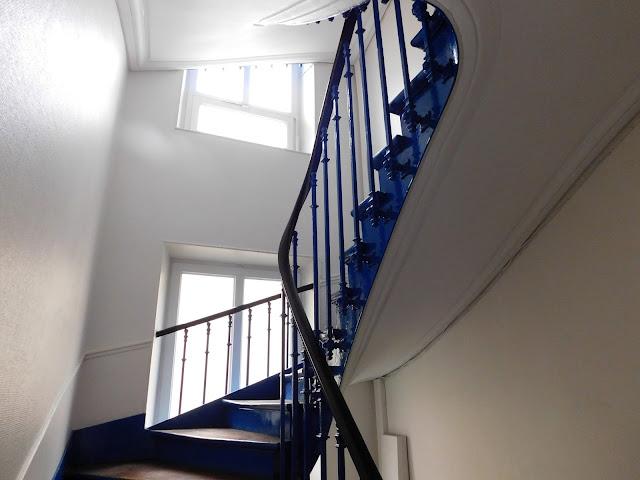 Air B&B Paris flat apartment stay Parisian staircase