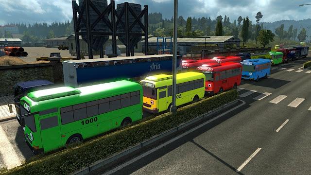 download Mod Trafic Bus Tayo ETS2