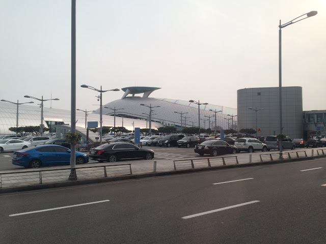 outside the airport