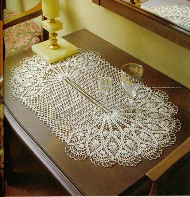 trilho de mesa crochê