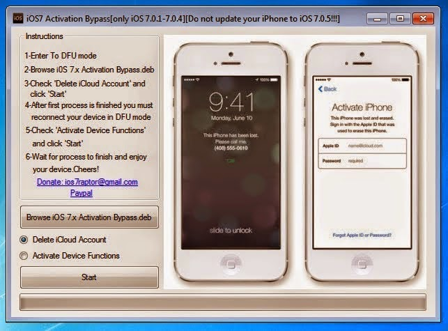 Download iOS 7 Activation Bypass Tool