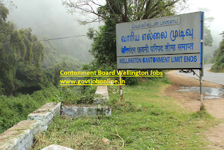 Cantonment Board Wellington Lower Division Clerk, Mazdoor, Safaiwala Govt Jobs Recruitment 2017