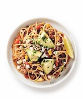 Healthy Mexican Taco-Bowl Spaghetti