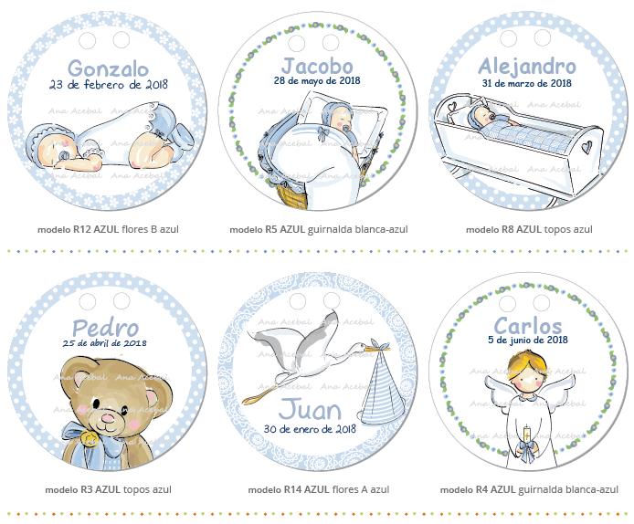 etiquetas de bautizo niño personalizadas originales