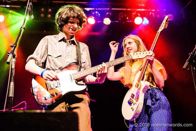 Finn Wolfhard and Ayla Tesler-Mabe of Calpurnia at The Phoenix Concert Theatre on October 20, 2018 Photo by John Ordean at One In Ten Words oneintenwords.com toronto indie alternative live music blog concert photography pictures photos