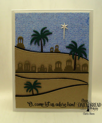 Our Daily Bread Designs, Bethlehem Dies, Curvy Slopes Dies, Holy Night Dies (star), Pierced Rectangles dies, and the Christian Faith Paper Collection