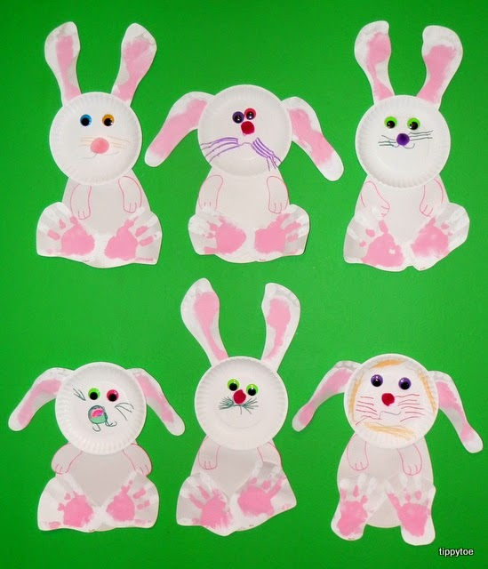 These hand and footprint bunnies are adorable!