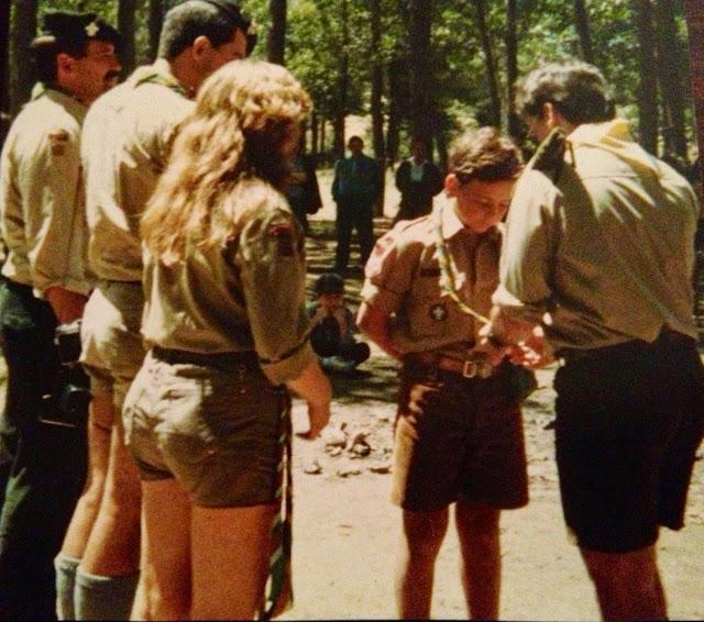 Mi promesa Scout - Kimball 110 - Tropa Atlas, Patrulla Mapaches Berlanga de Duero 1987 - Scouts de España - ÁlvaroGP - el troblogdita