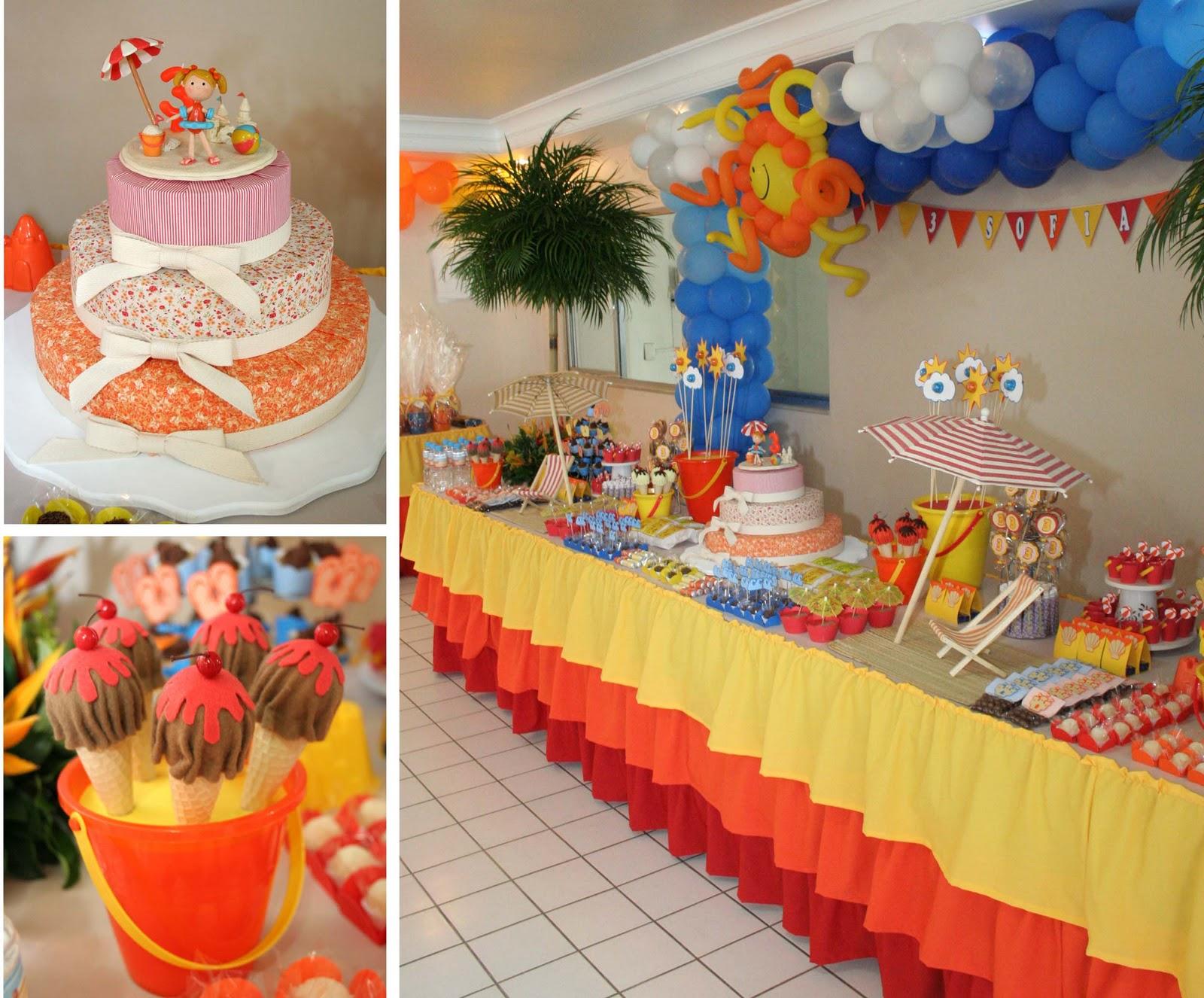 Resultado de imagem para decoração para festa  de verão