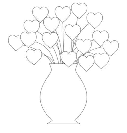 flower and hearts coloring pages | Hearts Flowers Coloring Pages For Kids >> Disney Coloring ...