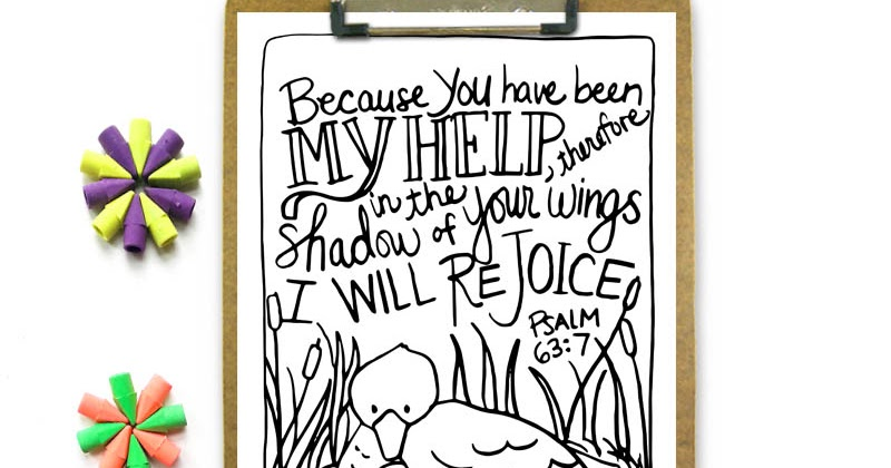 the secret place printable shadow of your wings coloring page marydean draws