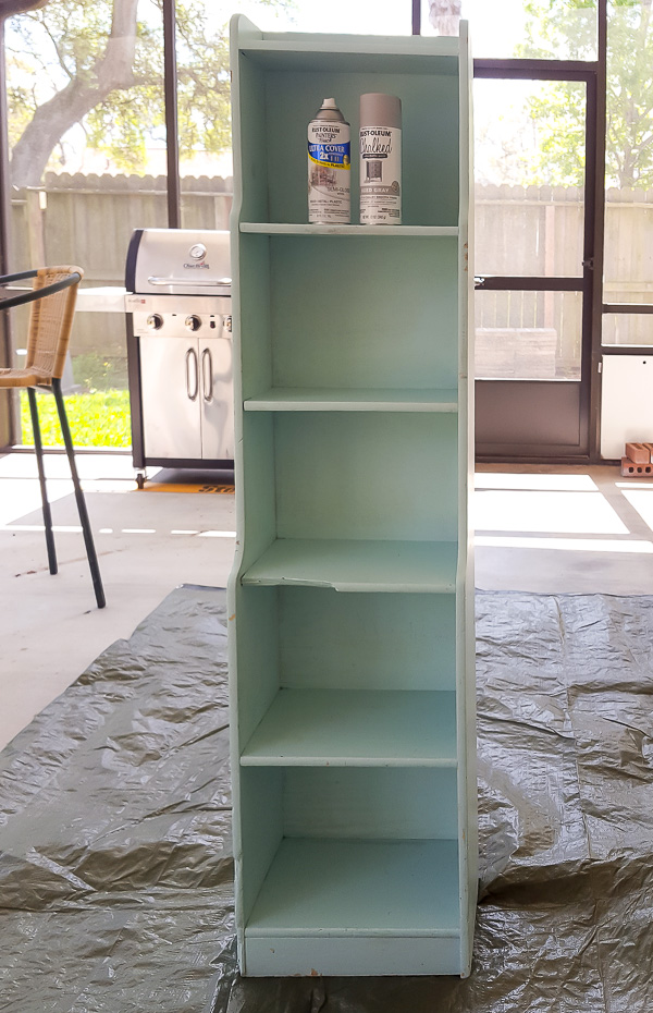 tall cabinet before makeover