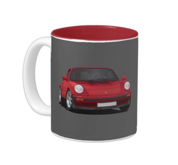 Porsche 911 illustration two image mug