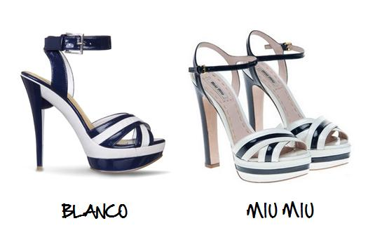 Clones 2011 sandalias Miu Miu Blanco