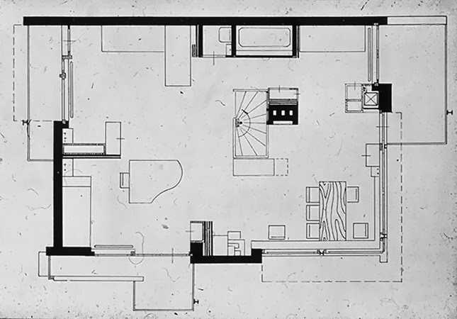 Shroeder house fluidity of space and screen system Arquitectura - plan architecturale de maison