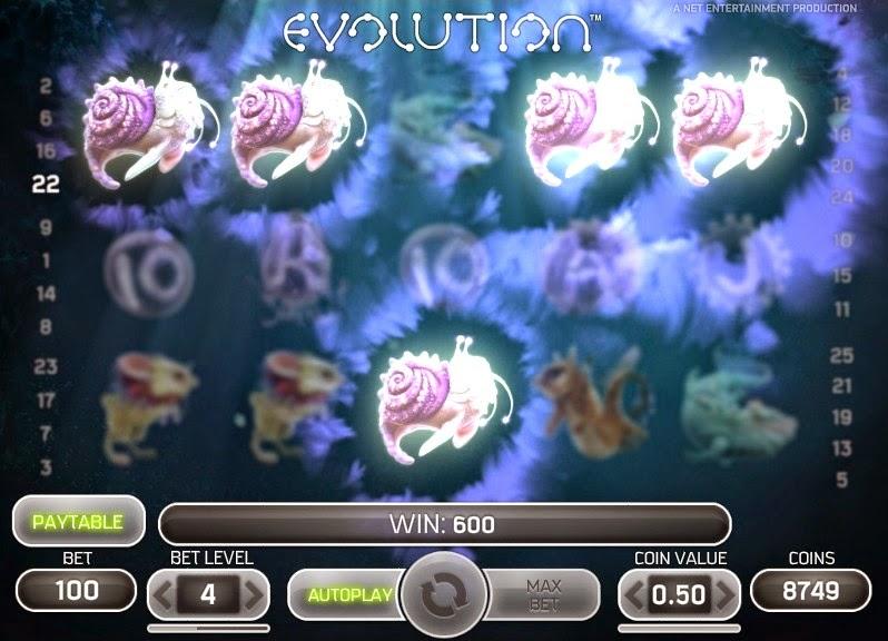Evolution Video Slot Screen