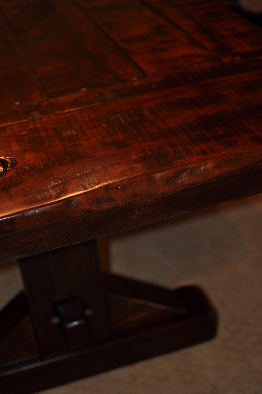 The Emerson Rustic Trestle Dining Table Atlanta Georgia