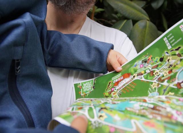 Phantastische Vögel aus aller Welt: Unterwegs im Weltvogelpark Walsrode (+ Verlosung). Der Park-Plan hat uns das ganze Wochenende geholfen.