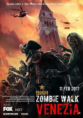 Locandina della 4^ edizione della Zombie Walk di Venezia