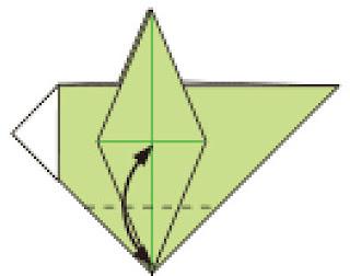 Bước 11: Gấp tạo nếp gấp tại vị trí nét đứt