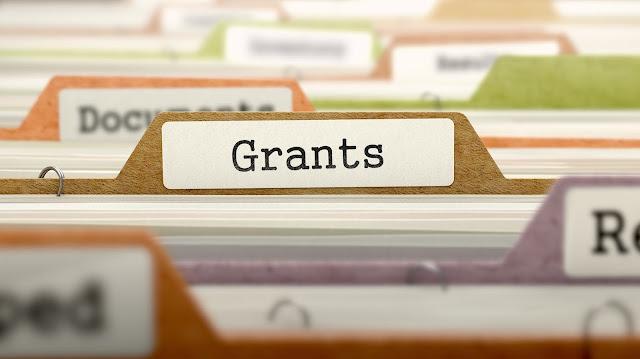 photo of file drawer focused on Grants folder
