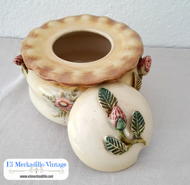 Azucarero de Porcelana Vintage