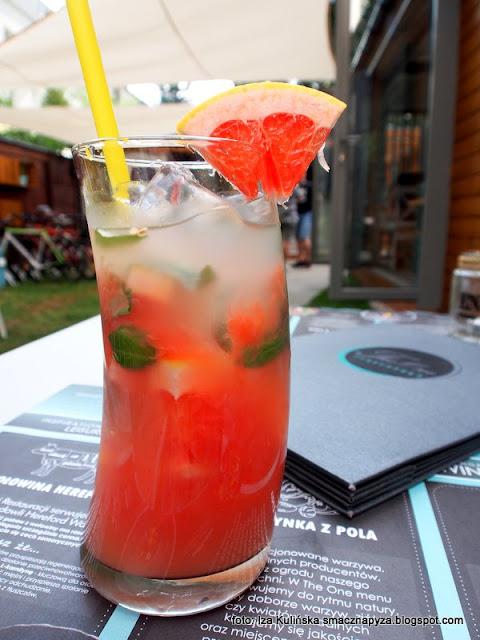 lemoniada grapefruitowa z bazylią , obiad , bistro , test , blogerka kulinarna , menu , warszawa , napoje , orzeźwienie