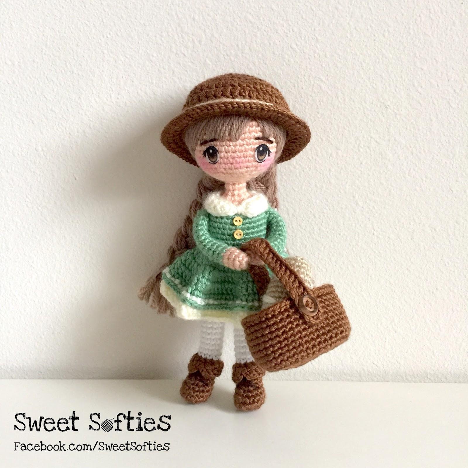 Amigurumi doll with hat Crochet pattern by Pletionica | 1600x1600