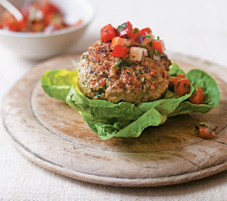 spicy turkey burgers with salsa recipe
