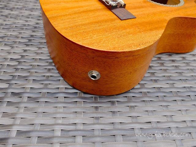 Cordoba 20TM-CE Tenor Ukulele jack socket