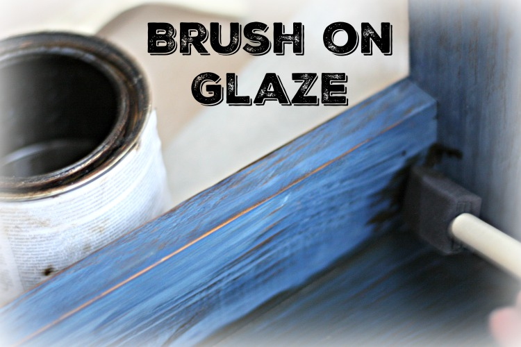 Brush on java glaze with a foam brush