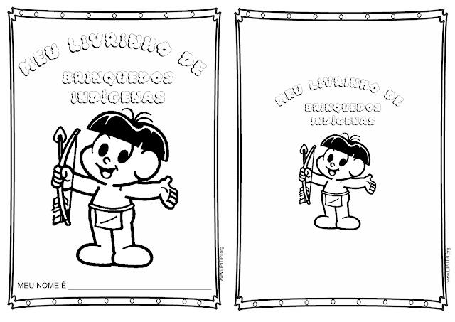 Livrinho Escrita Espontânea Brinquedos Indígenas.