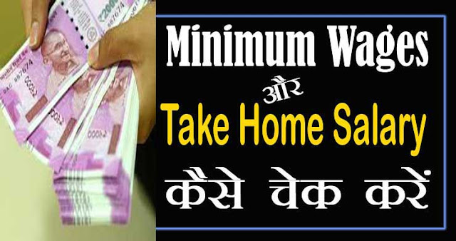 Take Home Salary or Minimum Wages कैसे चेक करें | in hand salary calculator