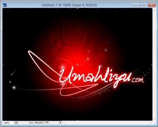 Adobe Photoshop Tutorial : Efek Lighting Glow Menggunakan Layer Styles dan Pen Tool