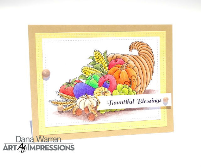 Dana Warren - Kraft Paper Stamps - Art Impressions - Spectrum Noir ColourBlend Pencils