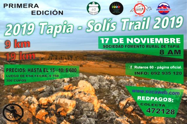 TST - Tapia Solís Trail de Ruteros 60 (Estación Tapia - Canelones, 17/nov/2019)
