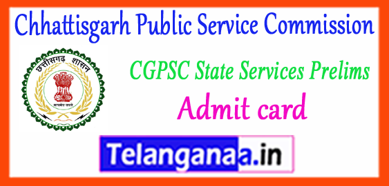 CGPSC Chhattisgarh Public Service Commission Assessment Admit card 2018 Cut Off