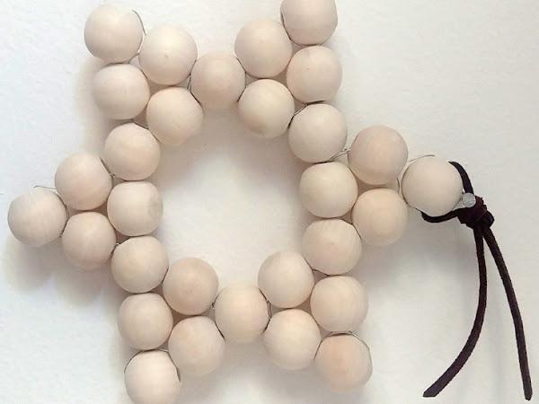 #Tuto : Une étoile en perles de bois tissées